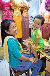 Young Girl and Young Boy At Phsar Nath Market