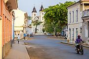 Colonial buildings in São Tomé, the capital city of São Tomé and Principe archipelago