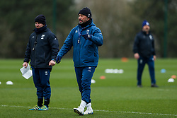 Pat Lam (Director of Rugby) and Conor McPhillips (Assistant Coach) of Bristol Bears in action during a training session - Rogan/JMP - 04/03/2021 - RUGBY UNION - Bristol Bears High Performance Centre - Bristol, England.