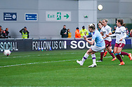Manchester City Women forward Lauren Hemp (15) scores a goal to make the score 4-0 during the FA Women's Super League match between Manchester City Women and West Ham United Women at the Sport City Academy Stadium, Manchester, United Kingdom on 17 November 2019.
