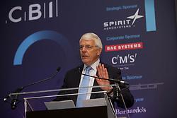 Former Conservative Prime Minister Sir John Major addressing the CBI Scotland dinner at the Hilton Glasgow
