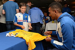 Christian Montano of Bristol Rovers signs autographs for fans during an open day at the Memorial Stadium - Mandatory by-line: Dougie Allward/JMP - 07966386802 - 26/07/2015 - SPORT - FOOTBALL - Bristol,England - Memorial Stadium - Bristol Rovers Open Day - Bristol Rovers Open Day