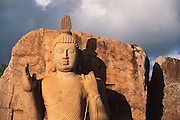 Aukana, Sri Lanka. 5th century Buddha. This was one of Sir Arthur C. Clarke's favorite places to visit in Sri Lanka. Sir Arthur is best known for the book 2001: A Space Odyssey.