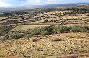 View over countryside from historic medieval town of Trujillo, Caceres province, Extremadura, Spain