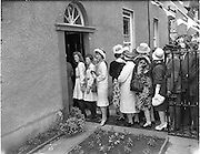 15/06/1961<br /> 06/15/1961<br /> 15 June 1961<br /> <br /> A Royal Visit to Ireland by Princess Grace and Prince Rainier of Monaco. The royal couple at Westport, Co. Mayo.<br /> Friends and relatives queued to meet the Royal couple.