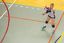02-02-2019 NED: Regio Zwolle Volleybal - Sliedrecht Sport, Zwolle<br /> Round 16 of Eredivisie volleyball - Sliedrecht win the match 3-2 / Florien Reesink #5 of Sliedrecht Sport