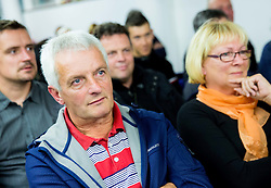Father and mother of Tomaz Nose, rider of KK Adria Mobil when he retires as a professional cycling athlete, on November 6, 2014 in Cesca vas, Novo mesto. Foto: Vid Ponikvar / Sportida
