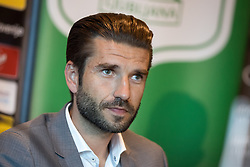 Luka Elsner at press conference of NK Olimpija Ljubljana about new head coach Luka Elsner, on September 2, 2016 in Champions Lounge, Austria Trend Hotel, Ljubljana, Slovenia. Photo By Matic Klansek Velej / Sportida