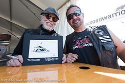 Willie G. Davidson has an autograph session at the Harley-Davidson display at Daytona International Speedway during Daytona Beach Bike Week 2015. FL, USA. Monday March 9, 2015.  Photography ©2015 Michael Lichter.