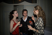 TALLULAH RILEY, ANDY JONES AND TAMSIN EGERTON, ' Top Tips for Girls' Kate Reardon - book launch party<br />Claridge's Hotel, Brook Street, London,28 January 2008. -DO NOT ARCHIVE-© Copyright Photograph by Dafydd Jones. 248 Clapham Rd. London SW9 0PZ. Tel 0207 820 0771. www.dafjones.com.