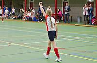 BENNEBROEK - Gescoord Zaalhockey D meisjes competitie. Bloemendaal-Abcoude. ANP COPYRIGHT KOEN SUYK