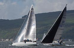 Pelle P Kip Regatta 2017 run by Royal Western Yacht Club at Kip Marina on the Clyde. <br /> <br /> IRL3307, Jacob VII, John Stamp, Port Edgar, Corby 33,<br /> GBR9740R, Sloop John T, Iain & Graham Thomson, CCC, Swan 40<br /> <br /> Image Credit Marc Turner
