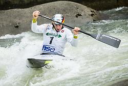 Sideris Tasiadis of Germany competes during Canoe Single (C1) Men Final race of 2018 ICF Canoe Slalom World Cup 4, on September 1, 2018 in Tacen, Ljubljana, Slovenia. Photo by Vid Ponikvar / Sportida