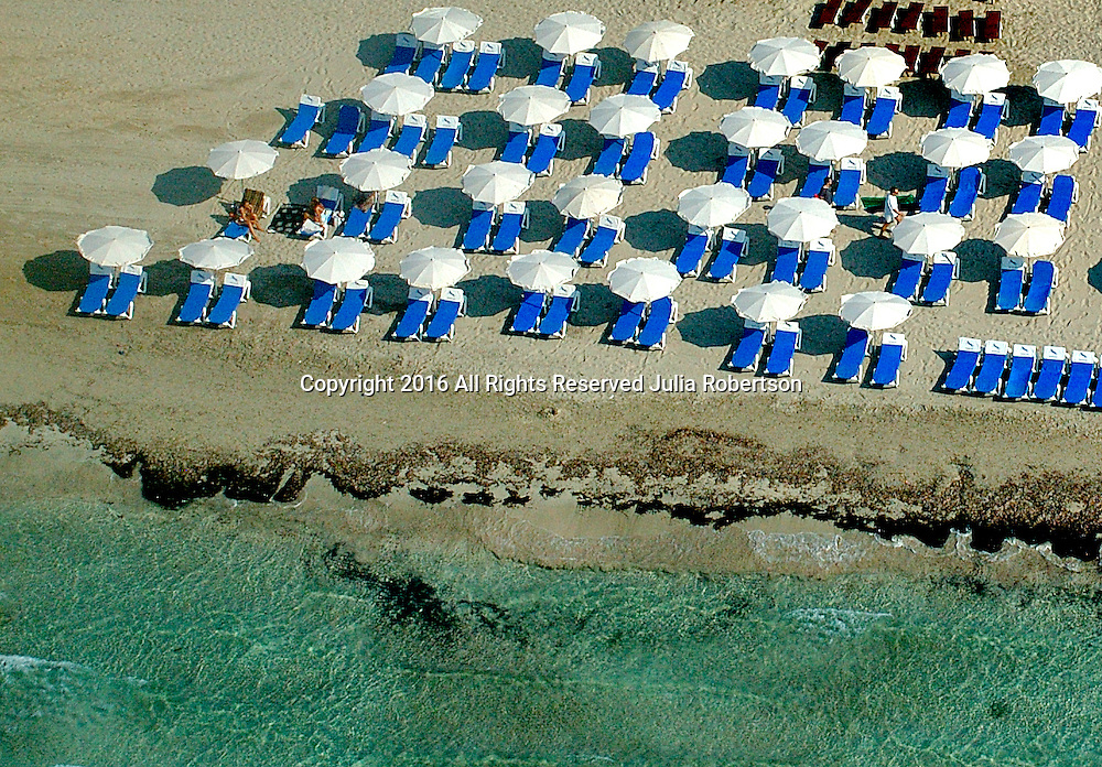 Views of the Beaches on the Island of Ibiza, Spain. Aerial views of artistic patterns in the earth.