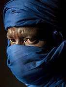 Portrait of a tuareg man in Djenné, Mali
