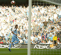 Photo: Aidan Ellis.<br /> Manchester City v West Ham United. The Barclays Premiership. 23/09/2006.<br /> City's Georgios Samars watches his second goal going in
