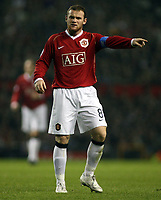 Photo: Paul Thomas.<br /> Manchester United v FC Copenhagen. UEFA Champions League, Group F. 17/10/2006.<br /> <br /> Man Utd captain Wayne Rooney directs his players.
