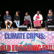 The second day of the Strike WEF march on Davos, 20th of January 2020, Switzerland. Speakers at an event in the Klosters Arena.     Njoki Njehu, Pan Africa Coordinator, Fight Inequality, The growing inequality gap and how to stop it<br />     Jennifer Morgan, Greenpeace International Executive Director, speaking on finance<br />     Silva Lieberherr, Multiwatch, speaking on undue influence of multinational corporations<br />     Harris Gleckman, Sr. Fellow Center for Governance and Sustainability, UMass-Boston, speaking on how the UN WEF Partnership undermines multilateralism and gives corporations unfettered access to UN processes<br />     Mattia, Collective Climate Justice - speaking on the need for action and what's up from the grassroots groups in 2020<br />     Luisa Neubauer, co-founder of Fridays for Future Germany . The march started in Schiers and walked the 24 kilomers to Klosters.  The aim is to finish in Davos with a public meeting in the town on the day the WEF begins. The march is a three day protest against the World Economic Forum meeting in Davos. The activists want climate justice and think that The WEF is for the world's richest and political elite only.