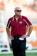 AUSTIN, TX - AUGUST 31: Head coach Doug Martin of the New Mexico State Aggies looks on before kickoff against the Texas Longhorns before kickoff on August 31, 2013 at Darrell K Royal-Texas Memorial Stadium in Austin, Texas.  (Photo by Cooper Neill/Getty Images) *** Local Caption *** Doug Martin