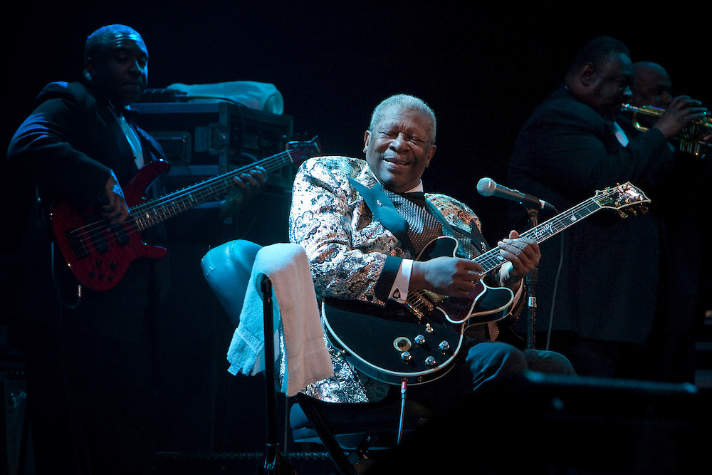 B.B. King performing on stage at the Domino Effect Benefit Concert in the New Orleans Arena in New Orleans, Louisiana, USA, 30 May 2009.