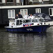 NLD/Amsterdam/20080930 - Persconferentie Toppers, politieboot P55