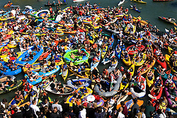 Boats in McCovey Cove outside AT&T Park in San Francisco, 2007