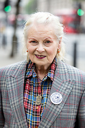 © Licensed to London News Pictures. 04/06/2016. London, UK. Vivienne Westwood attends the NHS Bursary Cuts Forum demonstration in central London, marching against government cuts to the NHS bursary. Photo credit : Tom Nicholson/LNP