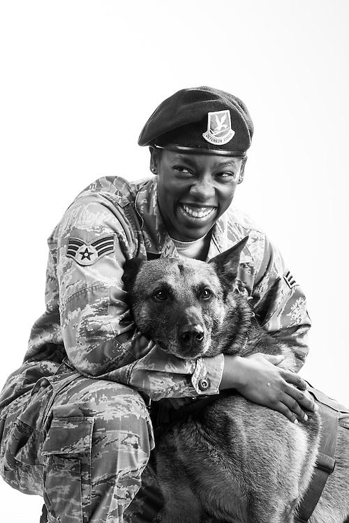 Candace Colburn<br /> Air Force<br /> E-4<br /> Security Forces, K9<br /> OIF, Qatar, UAE<br /> June 17, (?) - Present<br /> <br /> Veterans Portrait Project<br /> 802d Security Forces Squadron<br /> San Antonio, TX