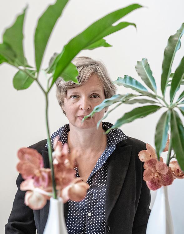 Netherlands. Amsterdam, 06-09-2015. Photo: Patrick Post. Portrait of Jenny Erpenbeck, German writer.