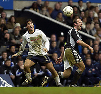 Picture: Henry Browne.<br /> Date: 14/03/2004.<br /> Tottenham Hotspur v Newcastle United FA Barclaycard Premiership.<br /> <br /> Alan Shearer complains about his treatment by Mauricio Taribo of Spurs.