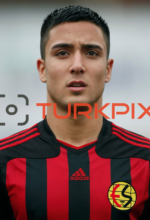 Eskisehirspor's Osman Tarik Camdal during their Turkey Cup matchday 3 soccer match Eyupspor between Eskisehirspor at Eyup Stadium in Istanbul Turkey on Wednesday, 11 January 2012. Photo by TURKPIX