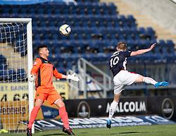 Falkirk's Craig Sibbald scoring their goal.<br /> half time : Falkirk 1v 0 Dumbarton, Scottish Championship game played 20/9/2014 at The Falkirk Stadium .