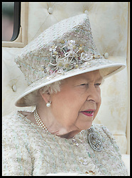 June 8, 2019 - London, London, United Kingdom - Image licensed to i-Images Picture Agency. 08/06/2019. London, United Kingdom. Queen Elizabeth II  at Trooping the Colour in London. (Credit Image: © Stephen Lock/i-Images via ZUMA Press)