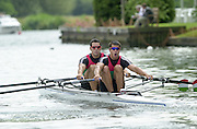 Henley on Thames, United kingdom, HUN M2X Akos HALLER and Tibor PETO str competing in a heat of the Double Scull Challenge Cup on 03/07/2002 - Thur.  at the  Annual 2002 Henley Royal Regatta, Henley Reach, River Thames, England, [Mandatory Credit: Peter Spurrier/Intersport Images] 20020703 Henley Royal Regatta, Henley, Great Britain
