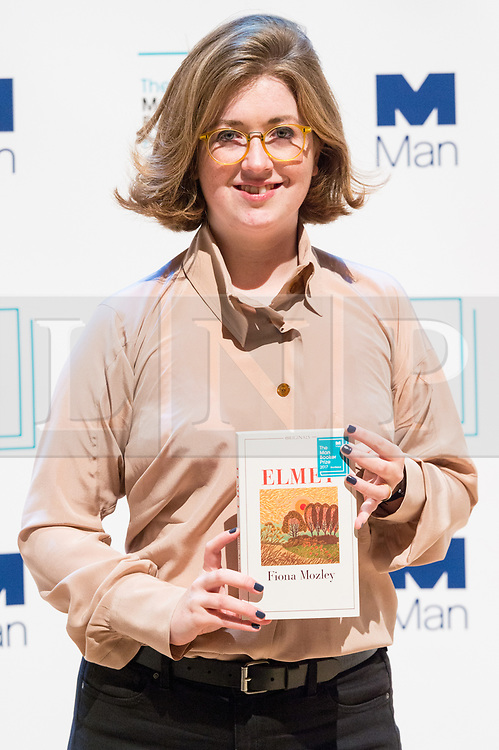 © Licensed to London News Pictures. 16/10/2017. London, UK.  UK author FIONA MOZLEY with her book Elmet attends the Man Booker prize for fiction shortlisted event at the Royal festival Hall. The winning author will receive £50,000 prize money.Photo credit: Ray Tang/LNP