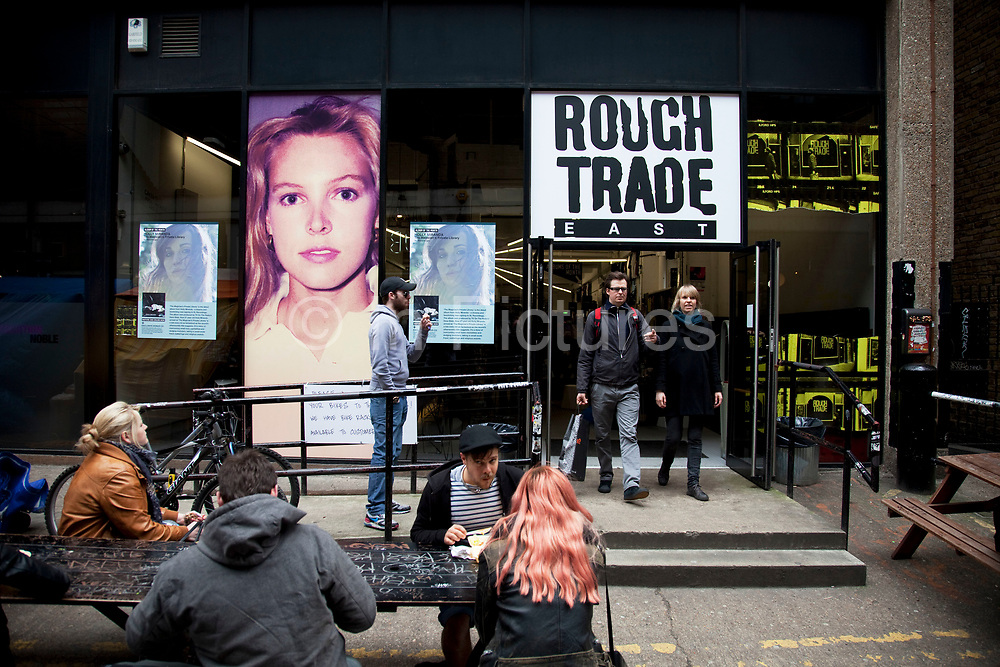 Scenes at Brick Lane, East London. Rough Trade East independent record shop.