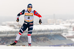 February 9, 2019 - Lahtis, FINLAND - 190209   Erik Valnes of Norway competes in the men's sprint qualification during the FIS Cross-Country World Cup on February 9, 2019 in Lahti..Photo: Johanna Lundberg / BILDBYRN / 135947 (Credit Image: © Johanna Lundberg/Bildbyran via ZUMA Press)