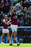 Henri Lansbury of Aston Villa claps off the fans.  EFL Skybet championship match, Aston Villa v Birmingham city at Villa Park in Birmingham, The Midlands on Sunday 23rd April 2017.<br /> pic by Bradley Collyer, Andrew Orchard sports photography.