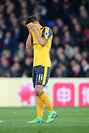 Arsenal's Mesut Ozil looks on dejected during the Premier League match at Selhurst Park Stadium, London. Picture date: April 10th, 2017. Pic credit should read: David Klein/Sportimage