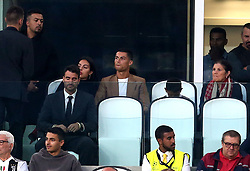 Juventus' Cristiano Ronaldo watches the from the stands