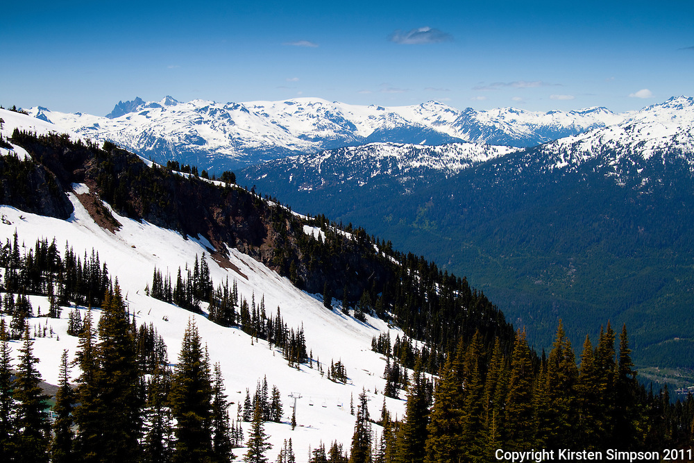 The view from the top of Whistler Mountian