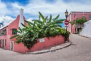 Charming architecture of St George Parish, Bermuda.