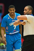 Ricky Ledo (7) of the Texas Legends has words with an official against the Los Angeles D-Fenders on Friday, January 9, 2015 at the Dr. Pepper Arena in Frisco, Texas. (Cooper Neill/Special Contributor)