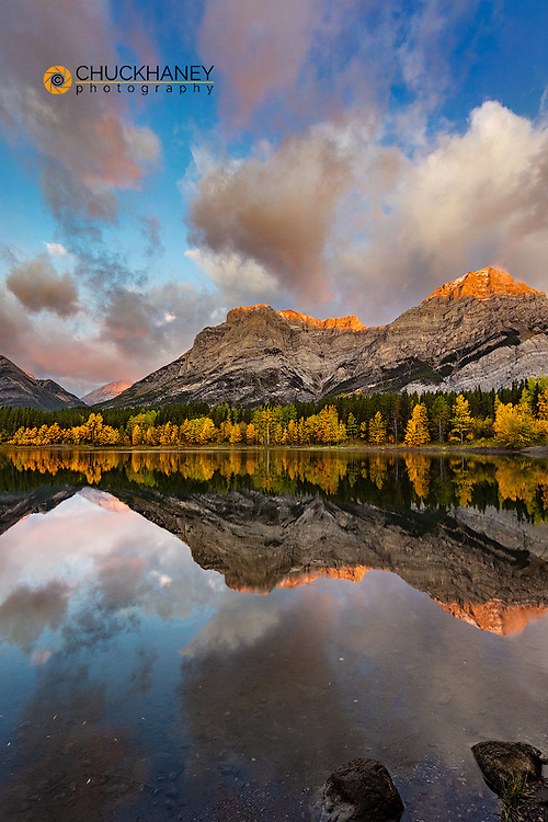 Morning light on Wedge Pond in Kananaskis Country, Alberta, Canada