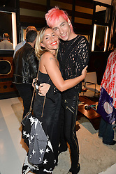 MELANIE BLATT and KYLE DE'VOLLE at a party to celebrate the opening of the jeweller Ara Vartanian's Flagship Store 44 Bruton Place, London on 7th September 2016.