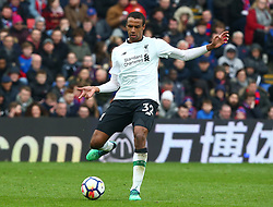 March 31, 2018 - London, Greater London, United Kingdom - Liverpool's Joel Matip.during the Premiership League  match between Crystal Palace and Liverpool at Wembley, London, England on 31 March 2018. (Credit Image: © Kieran Galvin/NurPhoto via ZUMA Press)