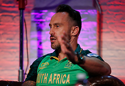 South Africa's Faf du Plessis during the Cricket World Cup captain's launch event at The Film Shed, London.
