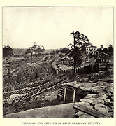 Atlanta, Georgia, Confederate defense, the fort at the head of Marietta Street, toward which the Federal lines were advancing from the northwest. from the book ' The Civil war through the camera ' hundreds of vivid photographs actually taken in Civil war times, sixteen reproductions in color of famous war paintings. The new text history by Henry W. Elson. A. complete illustrated history of the Civil war