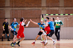 Peter Marusic of RD LL Grosist Slovan during handball match between RD LL Grosist Slovan and RK Jeruzalem Ormoz in 1st round of Playoffs of 1st NLB Leasing League 2017/18, on March 9, 2018 in Sports hall Kodeljevo, Ljubljana, Slovenia. Photo by Urban Urbanc / Sportida