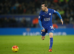 Christian Fuchs of Leicester City in action  - Mandatory byline: Jack Phillips/JMP - 07966386802 - 02/01/2016 - SPORT - FOOTBALL - Leicester - King Power Stadium - Leicester City v AFC Bournemouth - Barclays Premier League